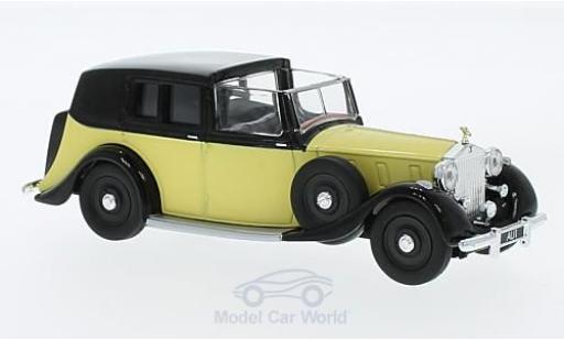 Rolls Royce Phantom 1/36 Corgi III Sedance de Ville jaune/noire RHD James Bond Goldfinger miniature