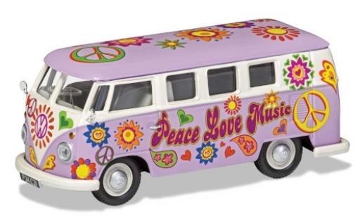 Volkswagen T1 1/43 Corgi Camper Peace Love & Music miniatura
