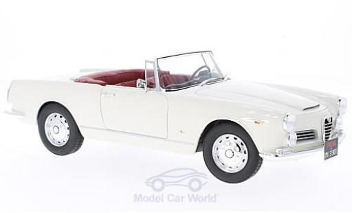 Alfa Romeo 2600 1/18 Cult Scale Models Spyder Touring blanche 1961 ohne Vitrine miniature