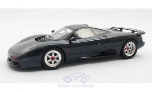 Jaguar XJ 1/18 Cult Scale Models -R metallise bleue RHD 1990 miniature