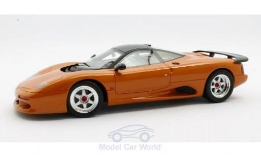 Jaguar XJ 1/18 Cult Scale Models -R metallise orange RHD 1990 miniature