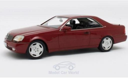 Mercedes 600 1/18 Cult Scale Models SEC (C140) metallise rouge 1992 miniature