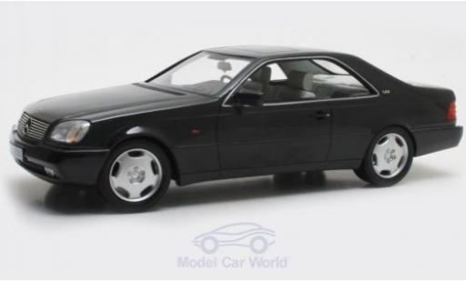 Mercedes 600 1/18 Cult Scale Models SEC (C140) metallise noire 1992 miniature