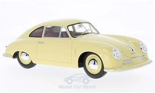 Porsche 356 1/18 Cult Scale Models -2 Gmünd jaune 1948 ohne Vitrine miniature