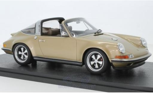 Porsche 911 1/18 Cult Scale Models Targa metallise gold Singer miniature