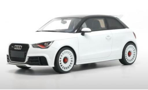 Audi A1 1/18 DNA Collectibles quattro metallico bianco/nero 2012 miniatura