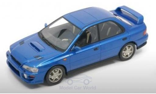 Subaru Impreza 1/18 DNA Collectibles GT Turbo métallisé bleue 2000 miniature