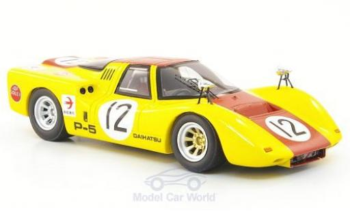 Daihatsu P-5 1/43 Ebbro jaune/rouge No.12 GP Japan 1968 miniature