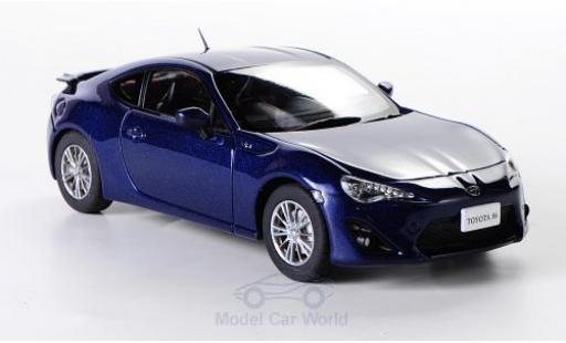 Toyota 86 1/43 Ebbro metallise bleue RHD miniature