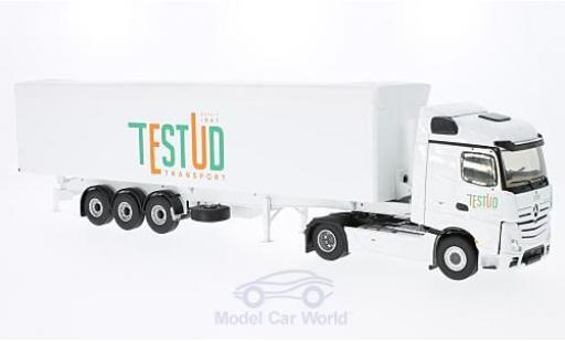 Mercedes Actros 1/43 Eligor 2 Streamspace white Testud Transport ohne Vitrine diecast model cars