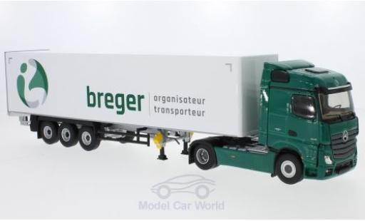 Mercedes Actros 1/43 Eligor 2 Streamspace Breger Gardinenplanen-Sattelzug modellino in miniatura
