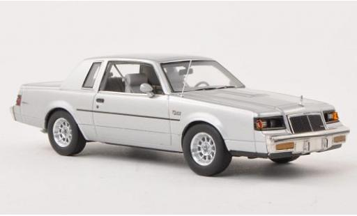 Buick Regal 1/43 Ertl T-Type grise 1986 miniature