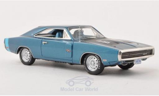 Dodge Charger 1970 1/43 Ertl R/T metallise bleue/matt-noire miniature