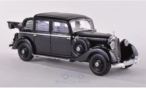 Mercedes 260 1/43 Esval Models D Pullmann Landaulet schwarz 1936 geöffnet modellautos