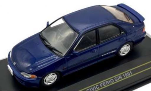 Honda Civic 1/43 First 43 Models Ferio SiR bleue RHD 1991 miniature