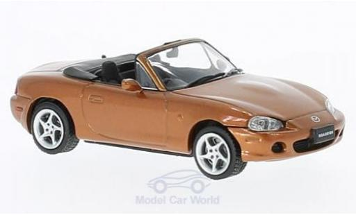 Mazda MX 1/43 First 43 Models -5 Roadster metallic-dunkelorange RHD 2001 miniature