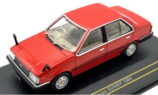 Nissan Sunny 1/43 First 43 Models rot/Dekor RHD 1980
