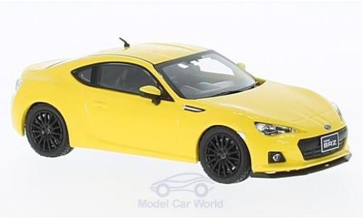Subaru BRZ 1/43 First 43 Models STI tS jaune RHD 2013 miniature