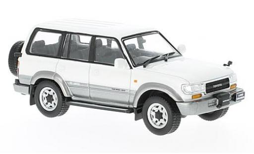 Toyota Land Cruiser 1/43 First 43 Models LC80 metallise blanche/grise RHD 1992 miniature