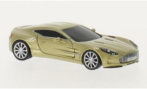 Aston Martin One 1/87 FrontiArt -77 metallise beige miniature