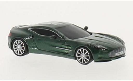 Aston Martin One 1/87 FrontiArt -77 metallise verte miniature