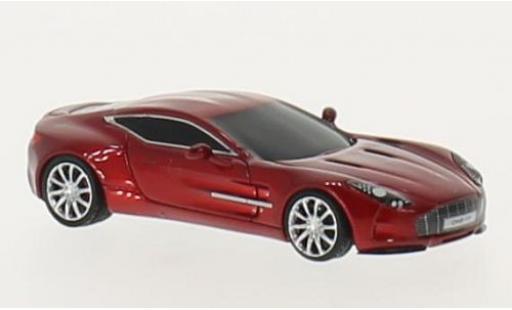 Aston Martin One 1/87 FrontiArt -77 metallise rouge miniature