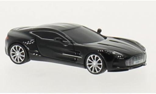 Aston Martin One 1/87 FrontiArt -77 noire miniature