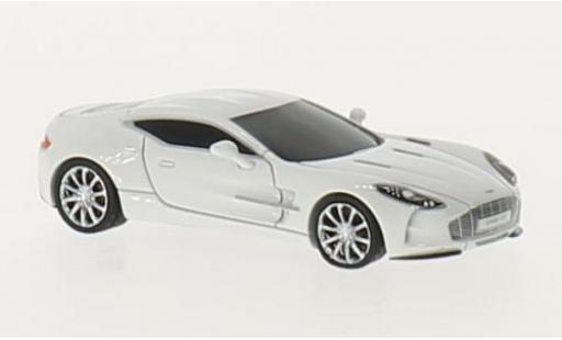 Aston Martin One 1/87 FrontiArt -77 blanche miniature