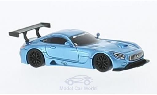Mercedes AMG GT 1/87 FrontiArt 3 metallise bleue miniature
