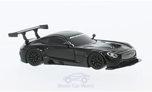 Mercedes AMG GT 1/87 FrontiArt 3 noire miniature