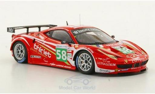 Ferrari 458 Italia GT2 1/43 Fujimi No.58 Team Luxury Racing 24h Le Mans 2011 P.Thiriet/F.Jakubowski miniature