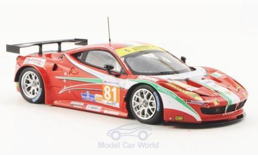Ferrari 458 Italia GT2 1/43 Fujimi No.81 AF Corse 24h Le Mans 2012 miniature