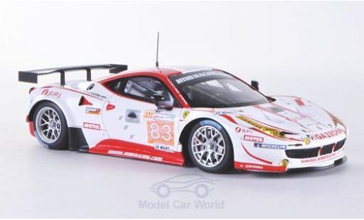 Ferrari 458 Italia GT2 1/43 Fujimi Italia GT2 No.83 JMB Racing 24h Le Mans 2012 miniature