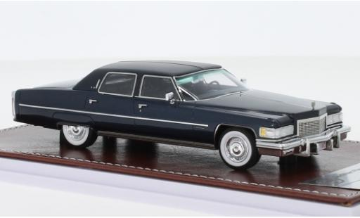 Cadillac Fleetwood 1/43 GIM   Great Iconic Models Brougham metallise bleue/matt-noire 1976 miniature