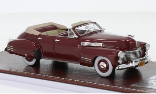 Cadillac Series 62 1/43 GIM   Great Iconic Models Convertible Sedan metallise rouge 1941 miniature