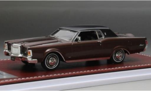 Lincoln Mark 1/43 GIM   Great Iconic Models III metallise marron/matt-noire 1971 miniature
