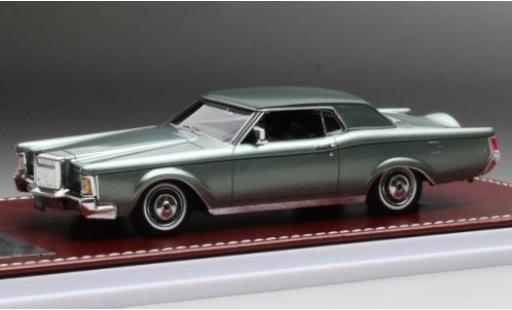 Lincoln Mark 1/43 GIM   Great Iconic Models III metallise verte/matt-verte 1971 miniature
