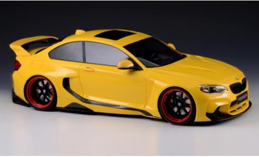 Bmw M2 1/18 GLM 35i (F22) DarwinPRO MTC Black Sails Widebody yellow 2015 diecast model cars