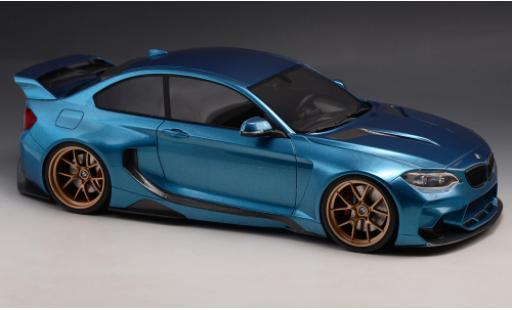Bmw M2 1/18 GLM 35i (F22) DarwinPRO MTC Black Sails Widebody metallise blue 2015 diecast model cars