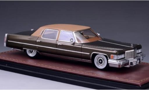 Cadillac Fleetwood 1/43 GLM Brougham metallise marron/marron 1976 miniature