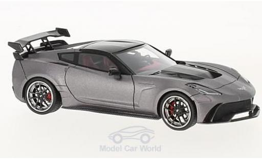 Chevrolet Corvette C7 1/43 GLM Widebody DarwinPRO Black Sails matt-grise/noire 2016 miniature