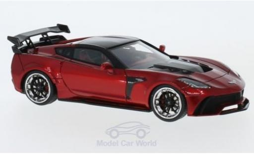Chevrolet Corvette C7 1/43 GLM Widebody DarwinPRO Black Sails metallise rouge 2016 miniature