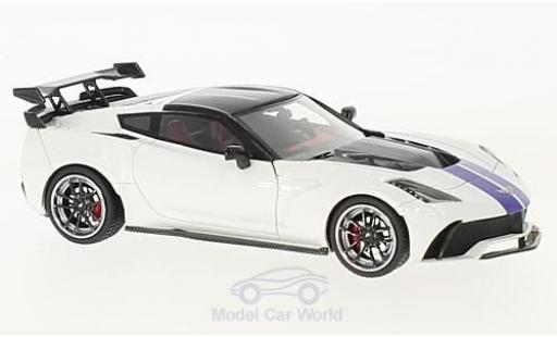 Chevrolet Corvette C7 1/43 GLM Widebody DarwinPRO Black Sails white/blue 2016 diecast model cars