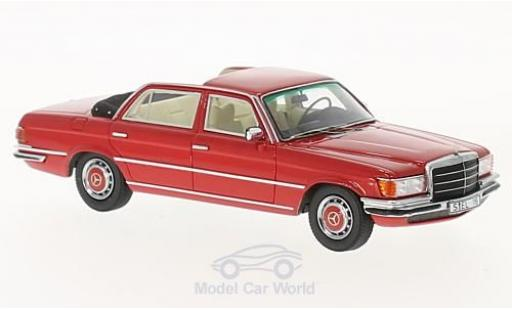 Mercedes 280 SE 1/43 GLM L (W116) Landaulet red diecast model cars
