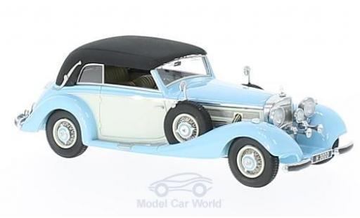 Mercedes 540 1/43 GLM K Cabriolet B bleue/blanche RHD 1937 geschlossen miniature
