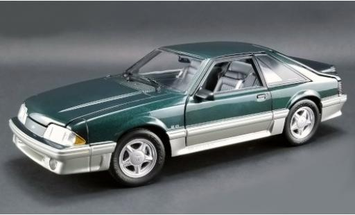 Ford Mustang 1/18 GMP GT metallico verde/grigio Home Improvement 1991 miniatura