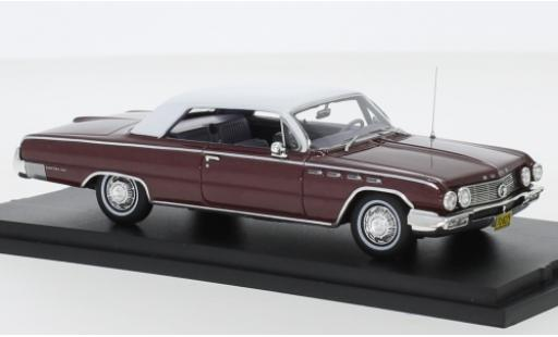 Buick Electra 1/43 Goldvarg Collections metallise rouge/matt-blanche 1962 miniature