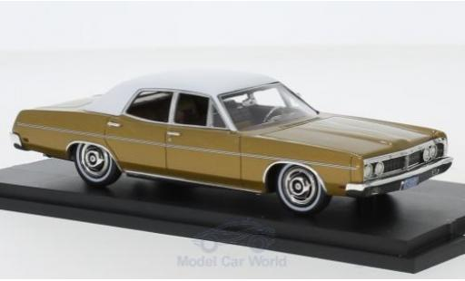 Ford Galaxy 1/43 Goldvarg Collections Galaxie metallise beige/blanche 1970 miniature