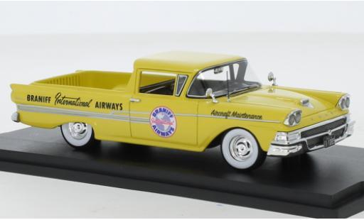 Ford Ranchero 1/43 Goldvarg Collections Braniff International Airways 1958 coche miniatura