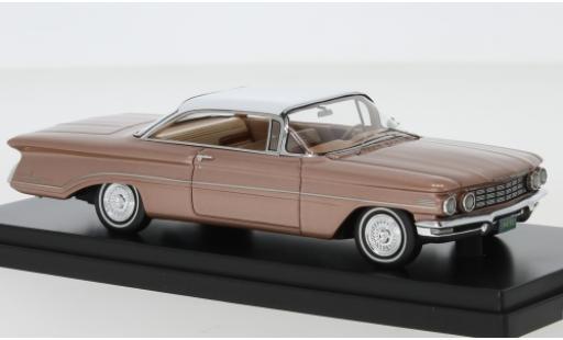 Oldsmobile 98 1/43 Goldvarg Collections metallise kupfer/blanche 1960 miniature